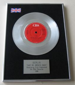BERLIN - TAKE MY BREATH AWAY PLATINUM Single Presentation DISC